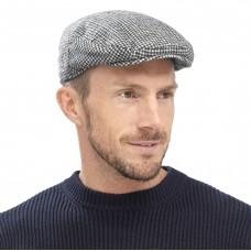 MENS CHECKED FLAT CAP